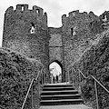 Conwy Castle Black And White  by John McGraw