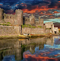 Conwy Castle Sunset by Adrian Evans