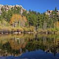 Cool Calm Rocky Mountains Autumn Reflections by James BO Insogna