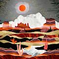 Coral Desert Lake by Spacefrog Designs