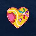 Corazon 4- Art By Linda Woods by Linda Woods
