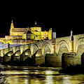 Cordoba Mosque And Bridge At Night by Weston Westmoreland