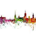 Cork, Stockholm And Gothenburg Skyline Mashup by Michael Tompsett