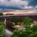 Cornish Windsor Bridge At Sunset by Joann Vitali