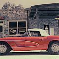 Corvette Cafe - C1 - Vintage Film by Jayson Tuntland