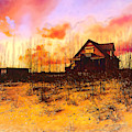 Cottage On The Dunes Painting by Debra and Dave Vanderlaan