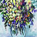 Country Flowers Bouquet Floral Impressionism  by Irina Sztukowski