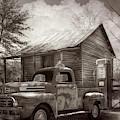 Country Olden Days In Vintage Sepia Tones by Debra and Dave Vanderlaan