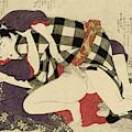 Courtesan With A Client, 1799 by Kitagawa Utamaro