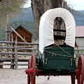 Covered Wagon At Cove Fort Utah by Colleen Cornelius