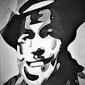 Cowboy B W by Rob Hans