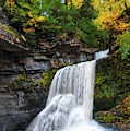 Cowshed Falls At Watkins Glen State Park - Finger Lakes, New York by Lynn Bauer