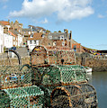Crail Harbour And Lobster Pots by Victor Lord Denovan