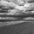 Crane Beach Portal Through The Storm Ipswich Ma Coastline Dramatic Sky Black And White by Toby McGuire