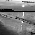 Crane Beach Sunset Ipswich Ma Black And White by Toby McGuire