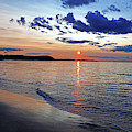 Crane Beach Sunset Ipswich Ma Blue Clouds by Toby McGuire