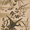Cranes And Birds At Pond 1880 by Daniel Hagerman