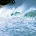 Crashing Wave Sunset Beach by Thomas R Fletcher