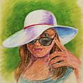 Craving Summer Woman With A Hat by Irina Sztukowski