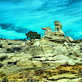 Crazy Rock Formations In New Mexico by Jeff Swan