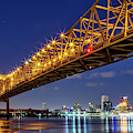 Crescent City Bridge, New Orleans, Version 2 by Kay Brewer