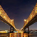 Crescent City Bridge Panorama by Kay Brewer
