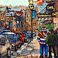 Crescent Street Downtown Stroll After St Patrick Parade Canadiens Hockey Jersey C Spandau Quebec Art by Carole Spandau