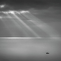 Crespecular Rays Over Bristol Channel by Paul Simon Wheeler Photography