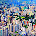 Crowded Hong Kong Abstract by Endre Balogh