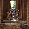 Crystal Ball In Wooden Lanterns by Kathy M Krause