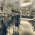 Crystal Bridges Museum In Sepia - Northwest Arkansas by Gregory Ballos