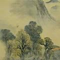 Cuckoo Flying Over New Verdure by Buson Yosa