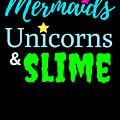 Cute Mermicorn Unicorn Mermaid Slime Birthday by TeeQueen2603