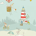 Cute Whimsical Animals For Kids by Matthias Hauser