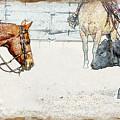 Cutting Horse At Work by Kae Cheatham