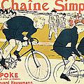 Cyclists By Henri De Toulouse-lautrec by Fine Art Images