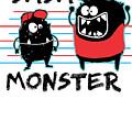 Dada Monster Cute Monster Cartoon For Kids And Dad Light by Nikita Goel