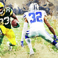Dallas Cowboys Against Green Bay Packers. by Nadezhda Zhuravleva