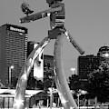 Dallas Deep Ellum Walking Tall Monochrome 62219 by Rospotte Photography