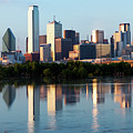 Dallas Skyline Pano With Bridge 040519 by Rospotte Photography