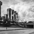 Dallas Texas Dealey Plaza And Reunion Tower - Monochrome by Gregory Ballos