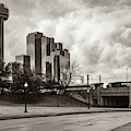 Dallas Texas Dealey Plaza And Reunion Tower - Sepia by Gregory Ballos