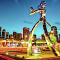 Dallas Traveling Man - Gold Light by Gregory Ballos