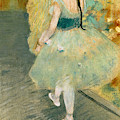 Dancer In Green, 1878 by Edgar Degas