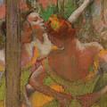Dancers, 1896, Pastel by Edgar Degas