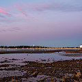 Dane Street Beach In Beverly Ma Morning Light Red Clouds Water Tower by Toby McGuire