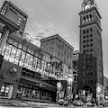 Daniel And Fishers Tower - Downtown Denver Colorado Monochrome by Gregory Ballos