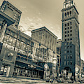 Daniel And Fishers Tower - Downtown Denver Colorado Sepia by Gregory Ballos