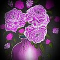 Dark And Delicious Roses In Pink Lilac by Angela Whitehouse