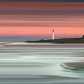 Dawn At Barns Ness Lighthouse by Bluefinart